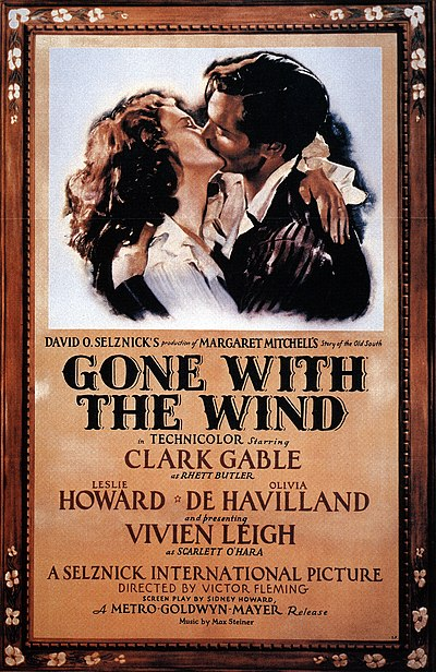 Poster for Gone With the Wind (1939). Poster - Gone With the Wind 01.jpg