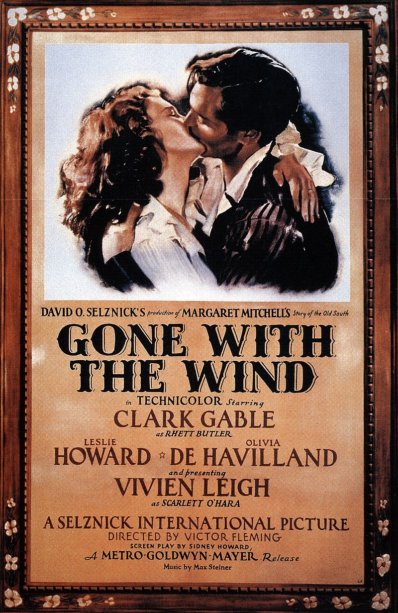 1968 gone with the wind movie poster
