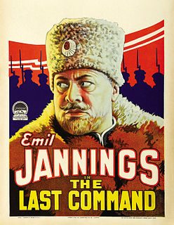 <i>The Last Command</i> (1928 film) 1928 film directed by Josef von Sternberg