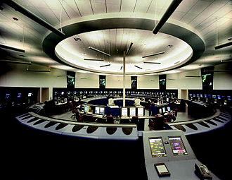 Air traffic control - Potomac Consolidated TRACON in Warrenton, Virginia, United States.