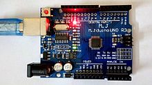 Power LED and Integrated LED on Arduino Compatible Board