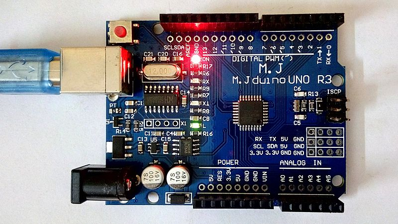 File power and pin led on arduino compatible board g