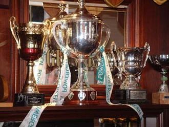 Anglo-Welsh Cup - The Powergen Cup (centre) seen in the London Irish clubhouse at Sunbury in 2002