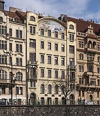 Prag Jugendstil Hlalol Gebäude.JPG