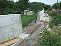 Praha, Trója, Výstavba železobetonové zdi III.jpg