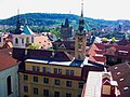 Praha - Klementinum - Astronomical Tower - View West towards Charles' Bridge.jpg