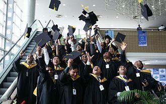 Premier University, Chittagong - Students enjoying the first convocation of Premier University