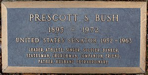 Prescott Bush - The grave of Prescott Bush