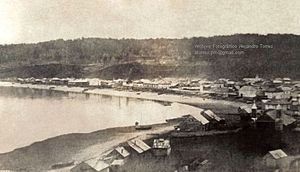 Puerto Montt - Image: Primera Fotografía Puerto Montt 1862