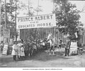 Prince Albert the Educated Horse exhibit, with a line of posed school children, Alaska-Yukon-Pacific-Exposition, Seattle (AYP 1184).jpeg
