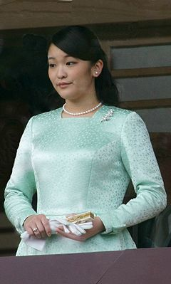 Princess Mako of Akishino Princess Mako and Princess Kako at the Tokyo Imperial Palace (cropped).jpg