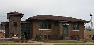 Chatfield, Minnesota - Chatfield Public Library (also home to the Chatfield Historical Museum), originally built as a Carnegie library.