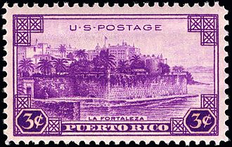 La Fortaleza - La Fortaleza on a 1937 U.S. stamp
