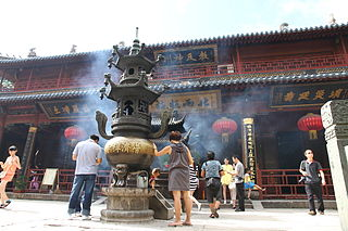 Puji Temple building in Puji Temple, China