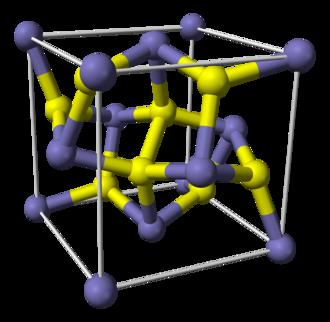 Disulfide - Image: Pyrite unit cell 3D balls