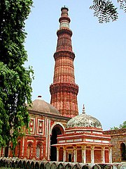 At 72.5 meters, the 13th century Qutub Minar is the world's tallest brick minaret.