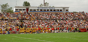 Richardson Memorial Stadium -  The West (alumni and public) stands at Richardson Memorial Stadium