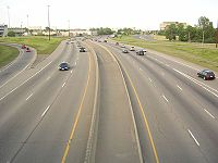 Queensway east of Riverside Drive Ottawa.jpg