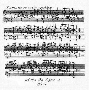 Goldberg Variations - The Quodlibet as it appears in the first edition