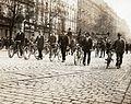 Rákóczi út az Astoria felől nézve, 1919. május 1-i felvonulás. Fortepan 75872.jpg