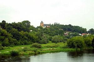 Różan - View with Narew river