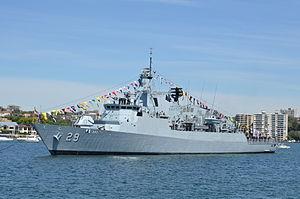 Lekiu-class frigate - Image: RAN IFR 2013 D3 143
