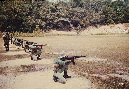 Malaysian Army reservists at the range. - Malaysian Army