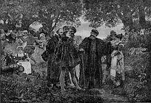 Reproduction du curé de Meudon par un tableau de Jules Garnier
