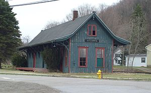 Cohocton, New York - Railroad station at Atlanta NY, April 2011