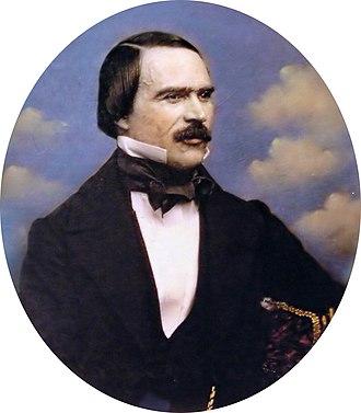 Ramón Cabrera y Griñó - Daguerreotype of Ramón Cabrera made in 1850