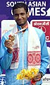 Ramkumar Ramanathan of India won Gold Medal in Men's singles Tennis, at the 12th South Asian Games-2016, in Guwahati on February 11, 2016.jpg