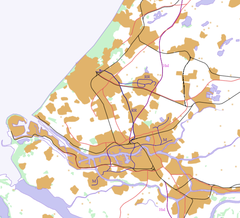 Dordrecht is located in Southwest Randstad