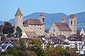 Rapperswil - Altstadt - Schloss-Stadtpfarrkirche - Seedamm - Holzbrücke 2012-10-05 15-10-45.jpg