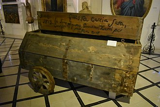 Cart - Cart to carry the victims of the 1813-1814 plaque in Malta, at the Żabbar Sanctuary Museum