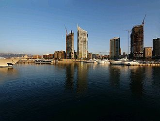 Real estate development - The Solidere development of the Beirut seafront and harbor