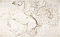 Rearing Horse and Trainer, drawn on a letter. Verso- Studies of Women and Children MET DP804204.jpg