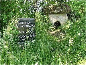 Wutöschingen - The reconstructed dolmen near Degernau in Wutöschingen, Baden-Württemberg, Germany.