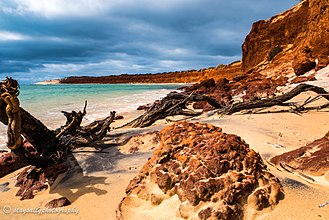 Francois Peron National Park - Red cliffs at Bottle Bay