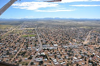 Rehoboth, Namibia - Aerial view of Rehoboth (2017)