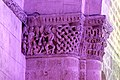 Reich geschmückt, die romanische Apsis (12. Jahrhundert) der Kirche Saint-Vivien-de-Medoc. 17.jpg