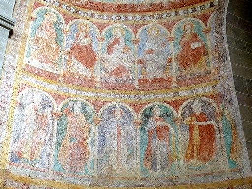 St.Peter und Paul - Fresken Apsis (UNESCO-Weltkulturerbe Klosterinsel Reichenau)