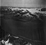 Reid Glacier, terminus of tidewater glacier and icefield in the background, inlet in the foreground, September 12, 1973 (GLACIERS 5801).jpg