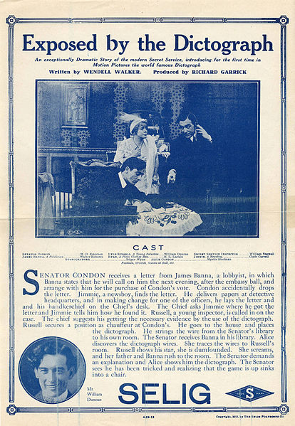File:Release flier for EXPOSED BY THE DICTOGRAPH, 1912.jpg