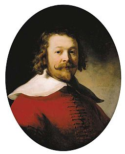 Rembrandt Portrait of a Man Wearing a Red Doublet
