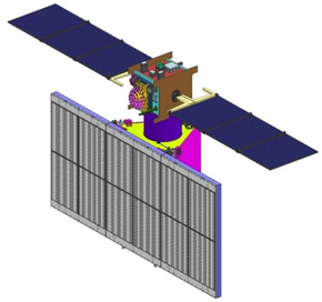 Render of Radar Imaging Satellite RISAT-1 in deployed configuration.png