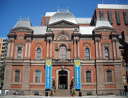 The Renwick Gallery is located on Pennsylvania Avenue. Renwick Gallery - Pennsylvania Avenue.JPG