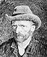 Reproductie van een zelfportret van Van Gogh, Bestanddeelnr 252-1887.jpg