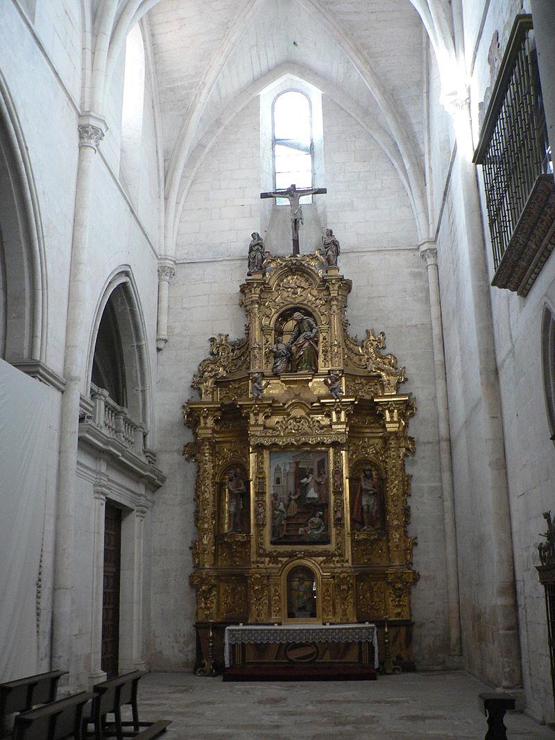 Retablo barroco en la iglesia del monasterio de las Huelgas de Burgos.jpg