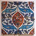 Revetment tile, Turkey, Iznik, 1580-1590 AD, underglaze-painted fritware - Aga Khan Museum - Toronto, Canada - DSC06782.jpg