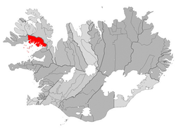 Location of the Municipality of Reykhólahreppur